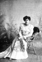 E. Pauline Johnson in evening dress